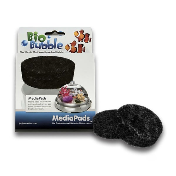 BioBubble Media Pads Filter for Freshwater or Saltwater Environments (Pack of 4)
