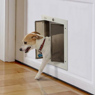 PlexiDor Performance Pet Door Medium Door Mount