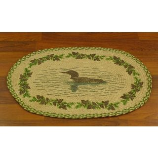 Duck Pond Jute Braided Oval Welcome Mat (1'7 x 2'6)