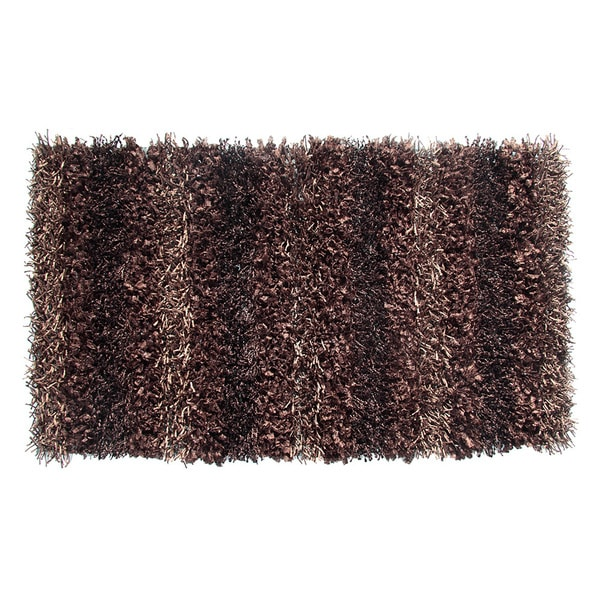 Sea Breeze Shaggy Chocolate Rug (5' x 8')
