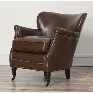 Mercer Chocolate Leather Club Chair