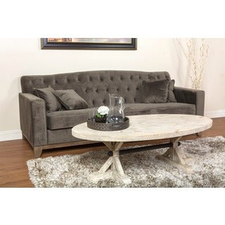 Urban Warm Grey Button-tufted Cate Sofa