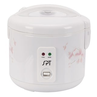 SPT White 6-cup Rice Cooker and Steamer