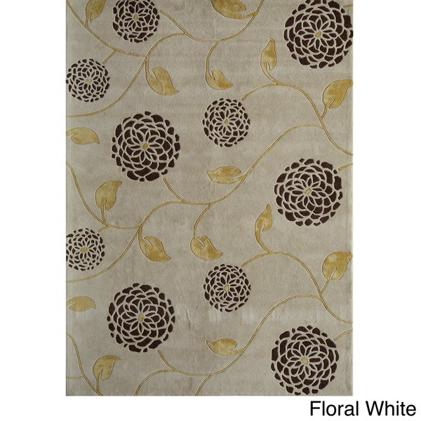 Allure White Area Rug (5 x 8)