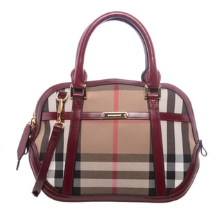 Burberry 'Orchard' Small Bridled House Check Satchel