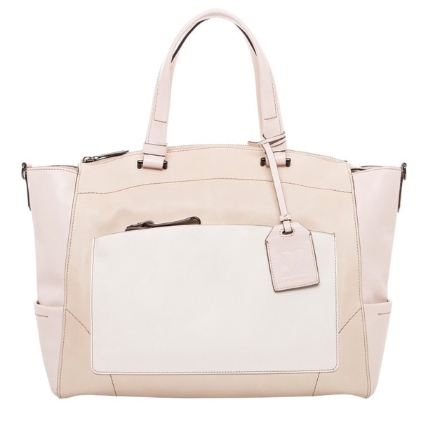 Reed Krakoff Soft Colorblocked Leather Tote Bag