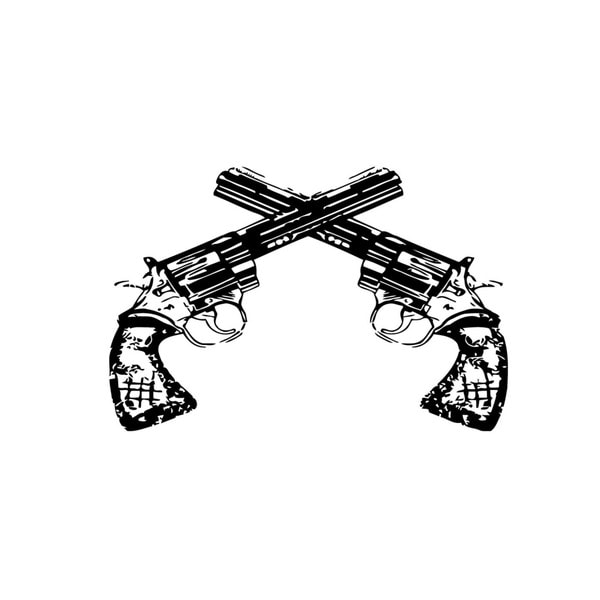 Crossing Guns Vinyl Wall Decal
