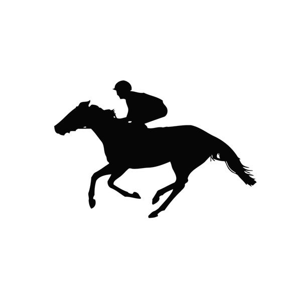 Horse Racing Vinyl Wall Decal