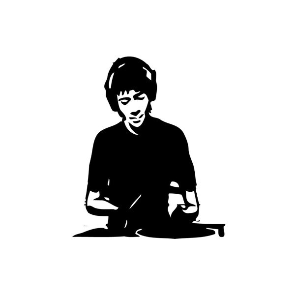 Guy In Headphones Vinyl Wall Decal