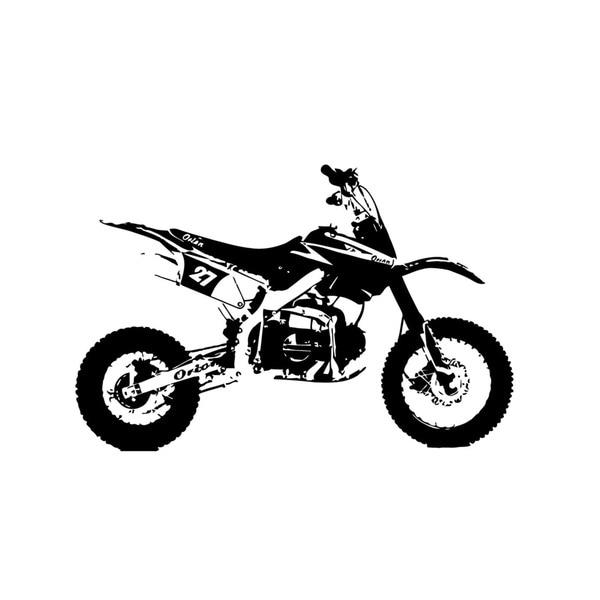 dirt bike vinyl wall art decal - 16178469
