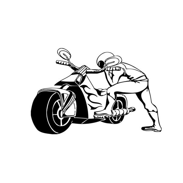Racing Bike Vinyl Wall Art Decal