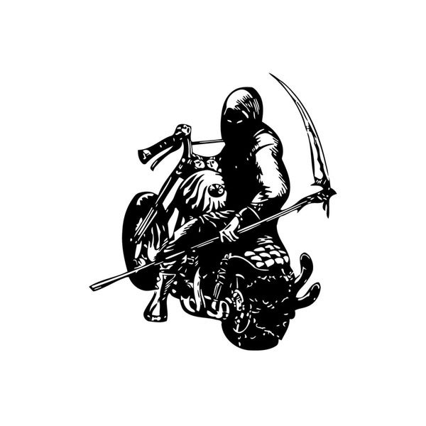 Death On Bike Vinyl Wall Art Decal