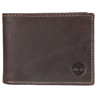 Timberland Men's Topstitched Slim Bi-fold Wallet