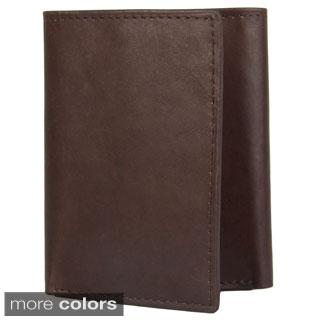 Joseph Abboud Men's Topstitched Tri-fold Wallet
