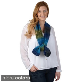 Journee Collection Women's Striped Knit Infinity Scarf