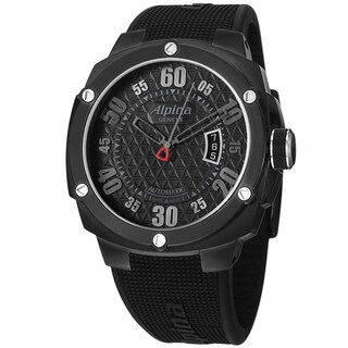 Alpina Men's AL-525BB55FBAE6 'Adventure' Black Dial Black Rubber Strap Watch