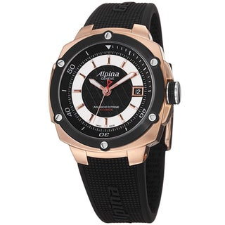 Alpina Men's AL-525LBS3AE4 'Adventure' Black Dial Rose Goldtone Automatic Watch