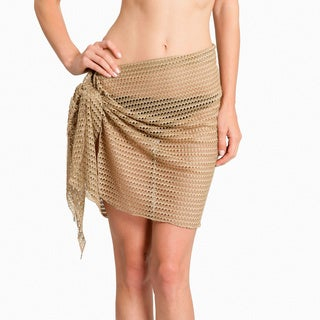 Jordan Taylor Women's Gold Fishbone-knit Sarong