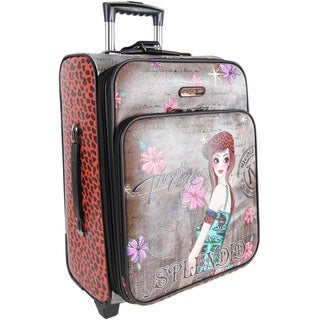 Nicole Lee Tina Print 20-inch Expandable Rolling Carry-on