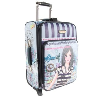 Nicole Lee Dolly Print 20-inch Expandable Rolling Carry-on