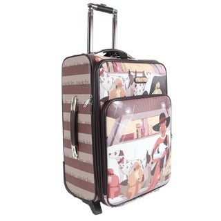 Nicole Lee Lauren Print 22-inch Expandable Rolling Carry-on