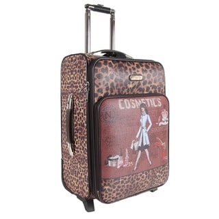 Nicole Lee Cosmetic Print 22-inch Expandable Rolling Carry-on