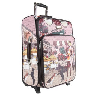 Nicole Lee Garden Flower Print 22-inch Expandable Rolling Carry-on