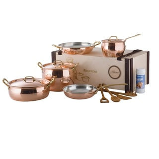 Ruffoni Italaian Handmade Copper 8-piece 'Historia' Copper Bakeware Set in Wooden Box