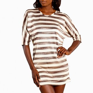 Jordan Taylor Women's Corsica Black/ Gold Striped Tunic