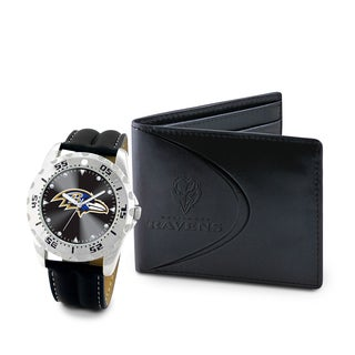 Game Time Baltimore Ravens Watch and Wallet Gift Set