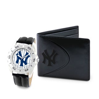 Game Time New York Yankees Watch and Wallet Gift Set