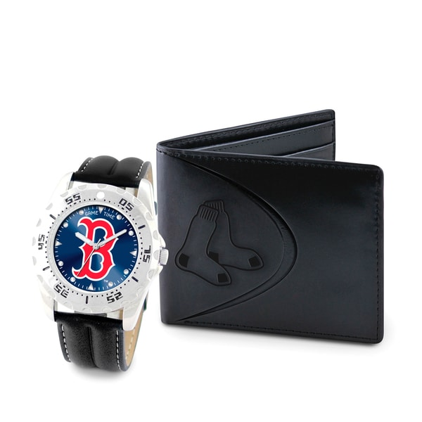 Game Time Boston Red Sox Watch and Wallet Gift Set