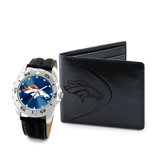 Game Time Denver Broncos Watch and Wallet Gift Set
