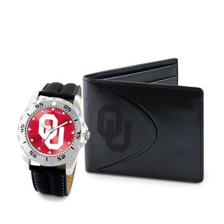 Game Time Oklahoma Sooners Watch and Wallet Gift Set