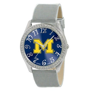 Game Time Michigan Wolverines Women's Glitz Patent Leather Watch