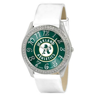 Game Time MLB Oakland Athletics Women's Glitz Patent Leather Watch