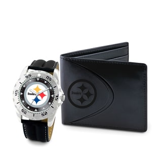 Game Time Pittsburgh Steelers Watch and Wallet Gift Set