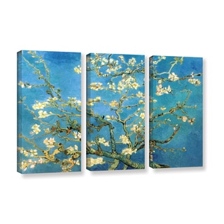 Vincent van Gogh '3-Piece Almond Blossom' gallery wrapped canvas