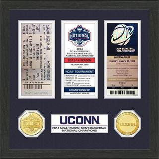 University of Connecticut 2014 NCAA Basketball National Champions Ticket Collection