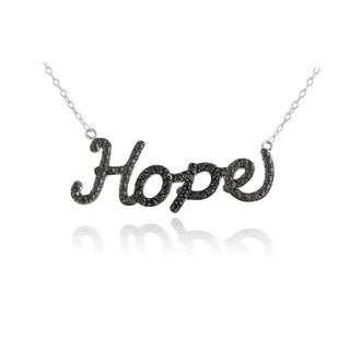 DB Designs Sterling Silver 1/4ct Black Diamond 'Hope' Necklace