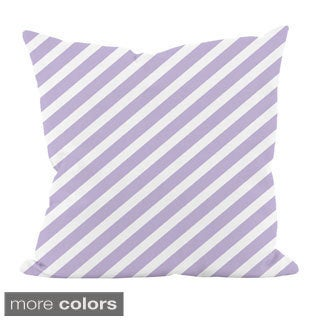 Striped Purple 18x18-inchDecorative Pillow