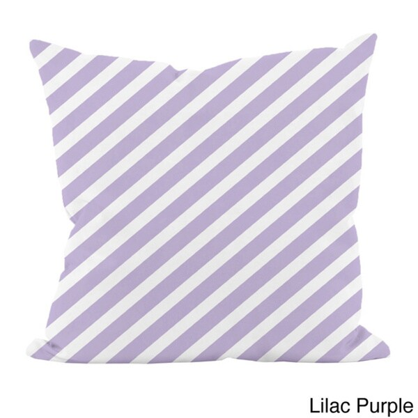 Striped Purple 18x18-inchDecorative Pillow