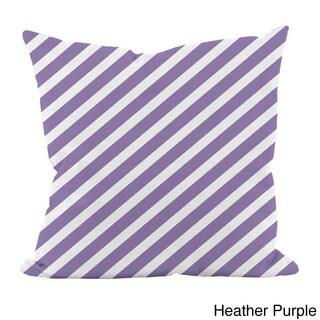 Striped Purple 16x16-inch Decorative Pillow