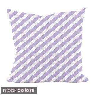 Striped Purple 20x20-inch Decorative Pillow