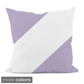 Diagonal Purple Stripe 16x16-inch Decorative Pillow