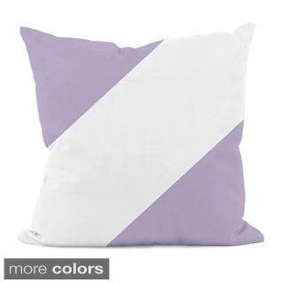 Diagonal Purple Stripe 16x16-inch Decorative Pillow