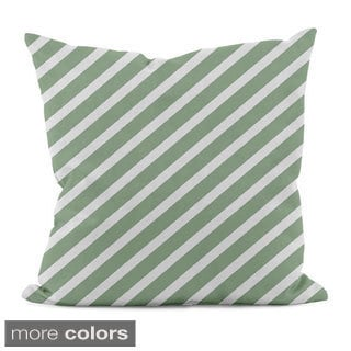 Bright Diagonal Stripe 16x16-inch Decorative Pillow