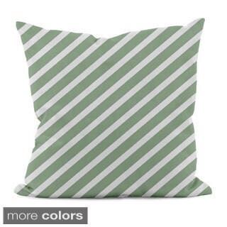 Bright Diagonal Stripe 20x20-inch Decorative Pillow