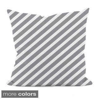 "Thin Diagonal Stripe 20"" x 20"" Decorative Pillow"