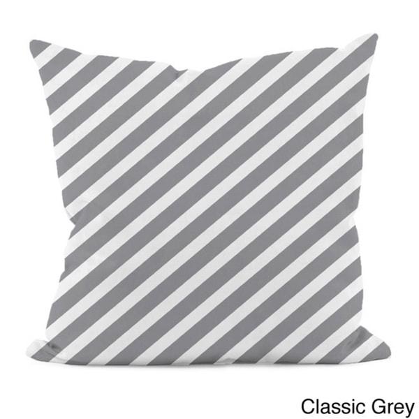 """Thin Diagonal Stripe 16"""" x 16"""" Decorative Pillow"""